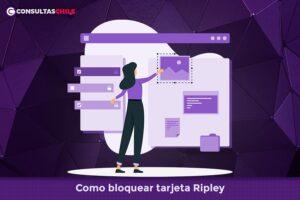 Como bloquear tarjeta Ripley